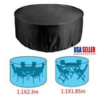 Waterproof Outdoor Garden Large Round Table Cover Patio Furniture Protection Us