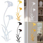 Flower Mirror Art Removable Wall Sticker Acrylic Mural Decal Home Room Decor New