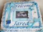 1 Tier Square Sheet Photo Diaper Cake Baby Shower Centerpiece Gift Boy Girl