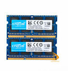 for Crucial 16GB 8GB 2Rx8 PC3L-12800S DDR3-1600Mhz SODIMM Laptop Memory RAM