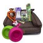 Puppy Starter Kit Bed Grooming Bowls Collar Harness Leads