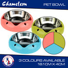 Premium Cat, Puppy, Dog, Pet Bowl with Stainless Steel Inner Bowl