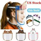 2 Pcs OF Kids Safety Full Face  Shield Protective Clear Film Dustproof Anti-Fog