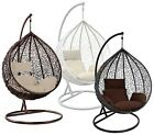 Rattan Hanging Egg Chair Garden Swing Chairs Outdoor With Cushion Indoor Patio