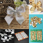 12X+Christmas+Tree+Bow+Decoration++Baubles+XMAS+Party+Garden+Bows+Ornament+HFUK