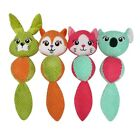 EY_ WO_ AU_ DI- Pet Dogs Puppy Cute Rabbit Shape Plush Doll Bite-resistant Chew