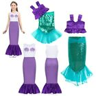 Kids Girls Mermaid Maxi Skirt Costume Party Dress Toddler Cosplay DRess Outfits