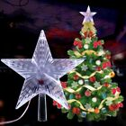 LED Light Up Christmas Tree Topper Star Xmas Ornaments Party Home Decorations