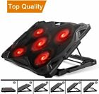 Pccooler Laptop Cooling Pad, Laptop Cooler with 5 Quiet Red LED Fans for 12-17.3