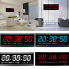 LED Digital Large Big Jumbo Snooze Wall Room Desk Calendar Alarm Clock US SHIP