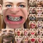 Protective Mask Funny Face Mouth Cosplay Party Half Masks 3d Personalized Cover