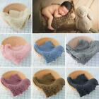 Cotton Wool Crochet Baby Blanket Infant Photography Props Shooting Basket Filler