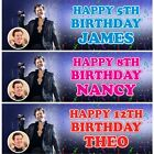 '2 Personalised Harry Styles Birthday Party Celebration Banners Decoration Poster