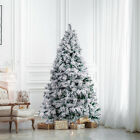 'Artificial Christmas Tree White Snow Flocking Popup Fluffy Outdoor Indoor 5/6ft