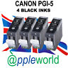 4 Canon PGI-5 BLACK Compatible Ink Cartridges [chipped]
