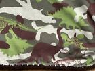"""LARGE 56""""x70"""" Dino  Child  blanket Camouflage Colors  Cotton Knit"""