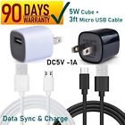 1A AC Home Wall Power Charger & Micro USB Cord For Vivitar, Emerson, Kurio [7