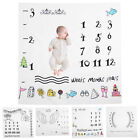 Infant Baby Toddler Monthly Growth Milestone Blanket Photography Prop Background