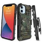 For iPhone 12 Pro 5G Rugged Case Belt Clip Holster Kickstand Shockproof Cover