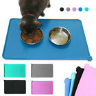 Dog Pets Cat Food Bowl Placemat Waterproof Leakproof Silicone Rubber Feeder Mat.