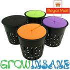 5cm Net Mesh Pot Plant Baskets With Neoprene Collars Hydroponic Foam Clone