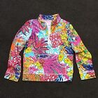 Lilly Pulitzer Girls Popover French Terry Long Sleeves Jacket. L XL