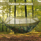 USA Double Outdoor Person Travel Camping Hanging Hammock Bed Mosquito Net Set