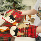 Fe- Christmas Heat Insulation Pad Glove Placemat Wine Bottle Cover Tree Skirt Ef