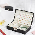 Large Jewellery Organiser Box Earring Rings Necklace Ornaments Storage Case New