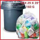 CLEAR Large Strong Plastic Polythene Bin Liners Waste Bags Sacks18