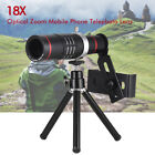 18X Optical Zoom Phone Telephoto Camera Lens Tripod Clip for iPhone 11 XS 8 Plus
