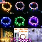 Copper Wire LED Fairy String Light 5M 10M 20M Christmas Party Waterproof Decor