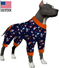 LovinPet Pajamas For Dogs Large/Recovery Shirts for Large Dogs/Pitbull Dog Pjs