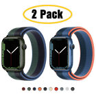 2 PACK 40/44mm Nylon Sport Band iWatch Strap for Apple Watch Series 6 5 4 3-1 SE
