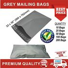 Grey Mailing Bags Strong Poly Postal Postage Post Mail Self-Seal Size 22