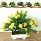 Fake Artificial Potted Rose Flowers Plants In Pot Outdoor Home Garden Decor Gift