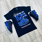 Tee to match Air Jordan Retro 13 Hyper Royal Sneakers. Icee Tee