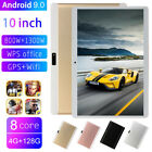 10'' Tablet Pc Wifi Android 9.0 Octa Core 128gb Dual Cameras Dual Sim Phablet Uk