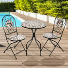 Bistro Set Outdoor Patio Garden Furniture Dining Kitchen Table Folding Chairs