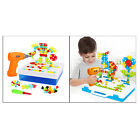 Kids Electric Drill Puzzle Toy DIY Screwdriver Tool Set Gifts Creative Games