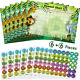Outus 12 Pieces Animal Reward Chart with Stickers Includes 6 Pieces Jungle 6 360