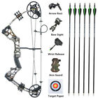 Archery Compound Bow Arrows Set 15-45lbs Junior Gift Youth Target Hunting Shoot