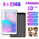 "10.1"" Inch Tablet PC Android 10.0 Pad 256GB 10 Core WIFI Dual SIM Camera Phablet"