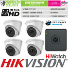 HiLook HD 1080P 2MP 2.8-12MM Night Vision Outdoor POE Home Security System Kit