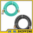 UKING Suction Hose with Brass Connectors Water Pipe Green/Black Multi Sizes