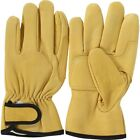 AG-9222 Yellow Argon Gloves Sheep Leather Lining Hand Safety Work Gloves