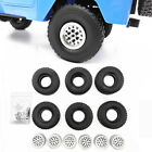 6pc Metal Alloy Wheel Rim Hub Tire Fit Wpl B36 Mn90 Upgrade Rc Car Spare Parts A