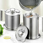 Kitchen Cooking Tool Oil Filter Storage Grease Strainer Pot Container 1.2L/1.6L