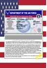 USA ID COLLECTOR CARDS <<AIR FORCE>>LAW ENFORCEMENT OFFICER