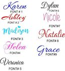 Custom Name Vinyl Decal Sticker (up To 10 Characters )